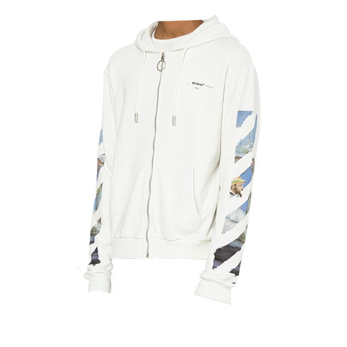 오프 화이트(Off White) 후드집업 OMBE001R19003012 0288 WHITE /남성 자켓