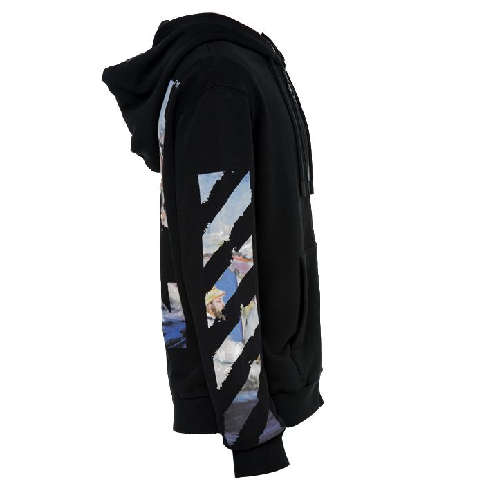오프 화이트(Off White) 후드집업 OMBE001R19003012 1088 BLACK / 남성 자켓