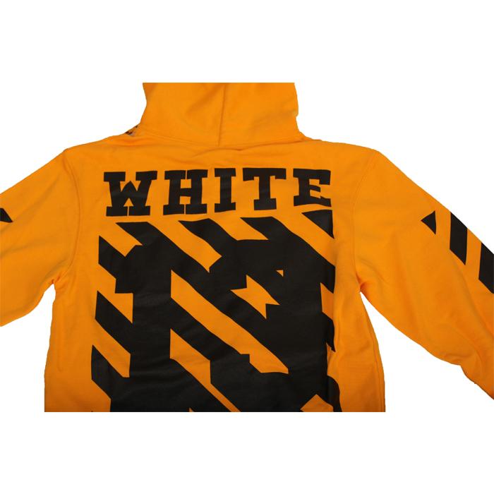 오프 화이트(Off White) 후드 AU4001 02 04 ORANGE / 후드 긴팔티셔츠/후드티