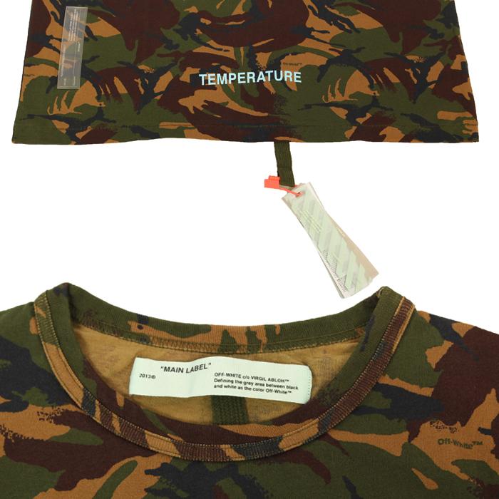 오프 화이트(Off White) 티셔츠 OMAA002S18878012 9901 GREEN / 반팔티셔츠